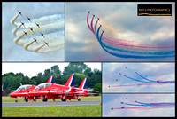 Red arrows Montage
