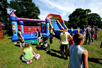 The bouncy castle and slide