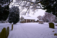West Grinstead Church in Snow