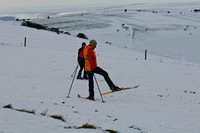 Sussex Downs under Snow_skiers