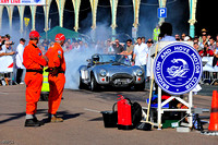 AC Cobra smokes a burnout