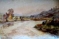 #121 Caerleon : River Usk Early Morning 1947